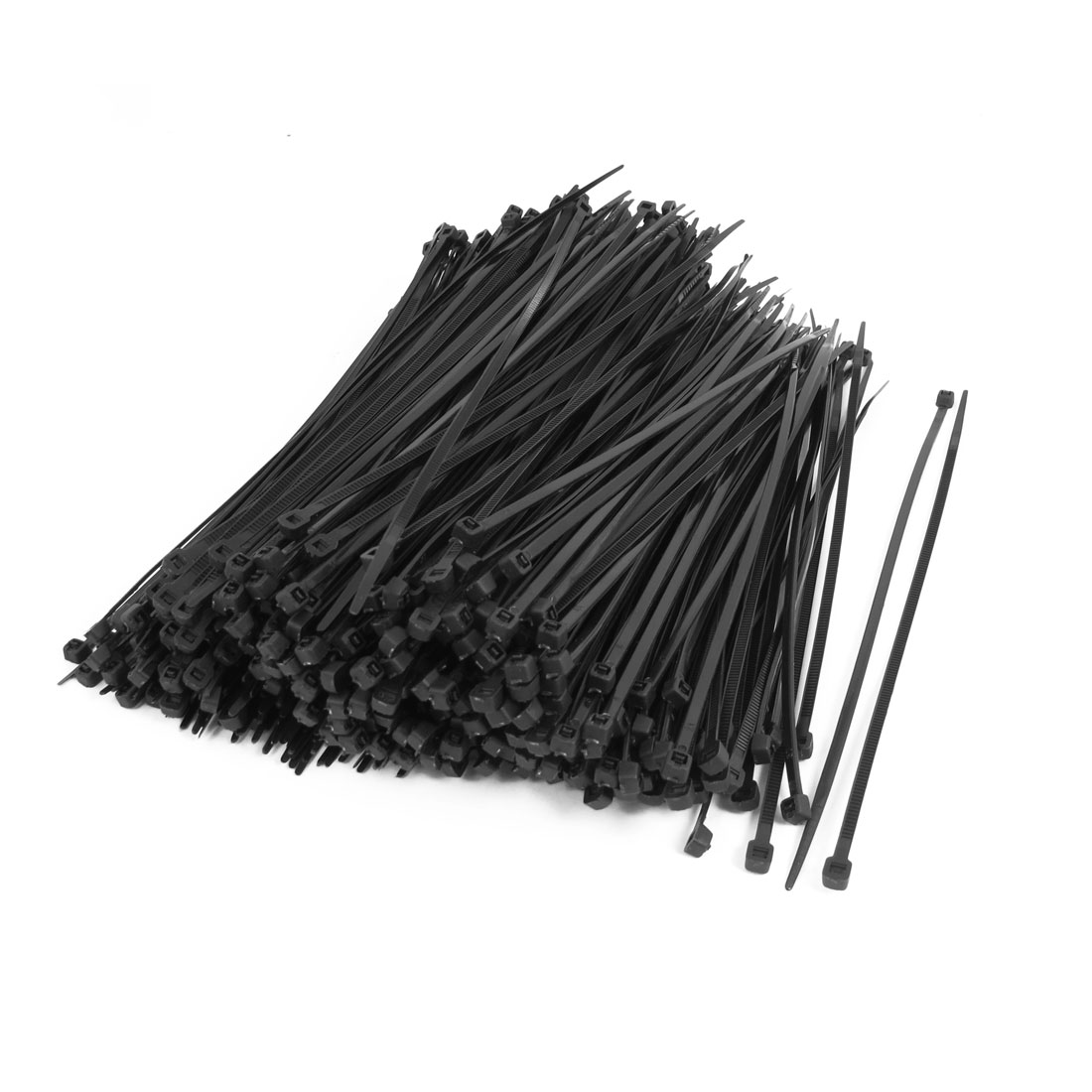 500PCS Nylon Zip Trim Wrap Loop Flexible Wire Cable Tie 4mmx200mm