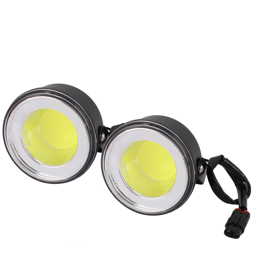Universal Round Projector LED Fog Daytime Running Light Lamp for Car 9/32V White