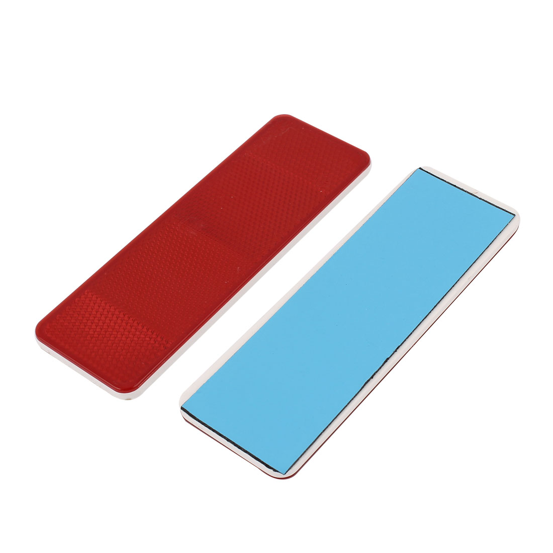 2Pcs Red Plastic Reflective Warning Plate Stickers For Car Safety