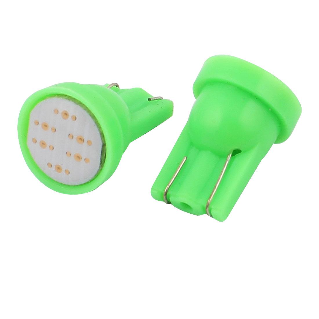Green LED Car Dashboard Instrument Light Lamp Bulb Interior T10 12V 2Pcs