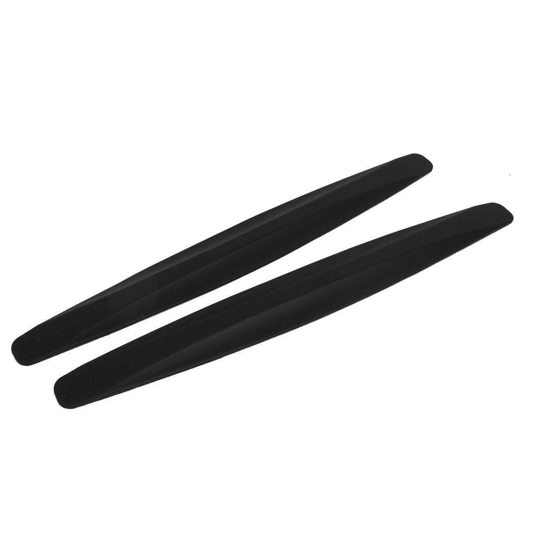 2pcs Black Soft Rubber Bumper Guard Protectors Stickers for Car