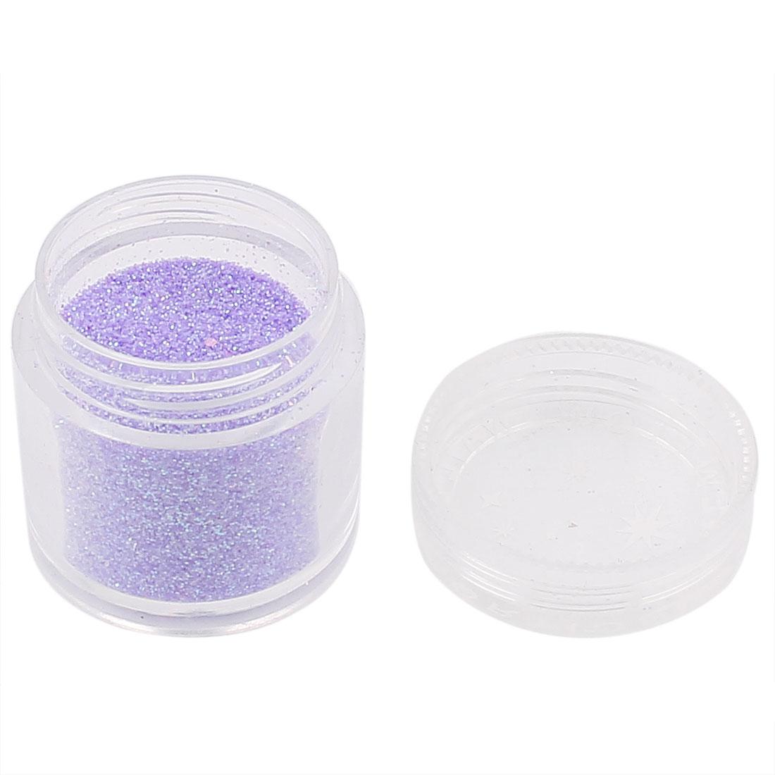 Nail Art Tips Decoration Crafts DIY Purple Tone Glitter Dust Powder Clear