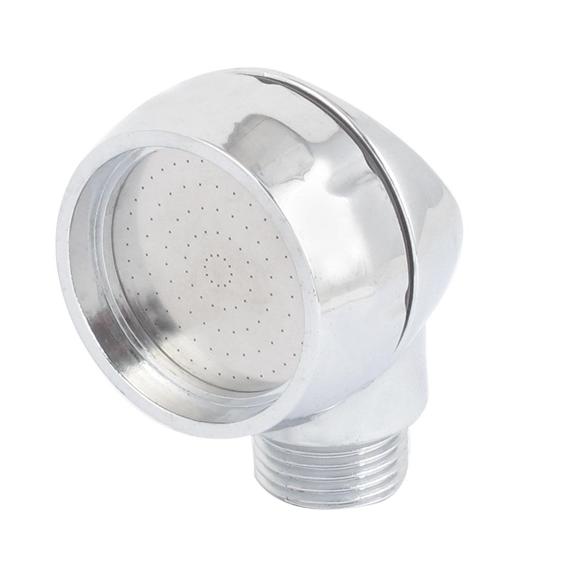 Silver Tone 20mm Thread Water Saving Bathroom Hand Held Bath Shower Head