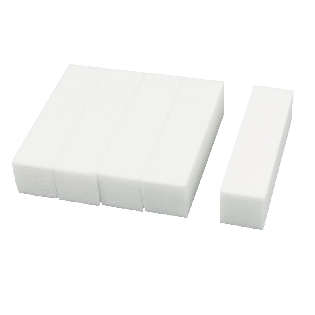 Tips Manicure Tool Nail Art Buffing Sanding Files Block Pedicure Care White 5pcs