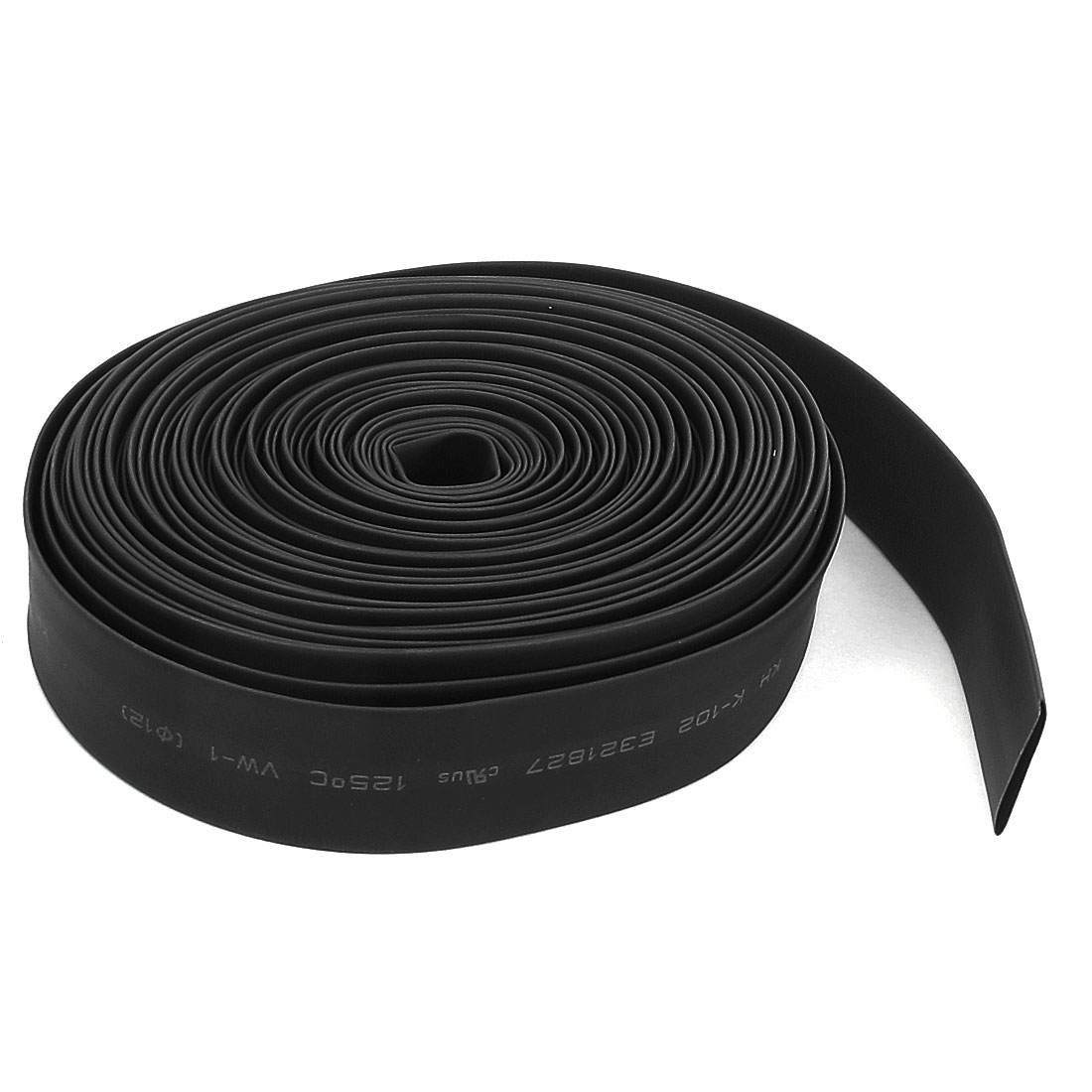 29ft 8.8M 12mm Dia Black Polyolefin Heat Shrink Cover Wiring Shrinkable Tube