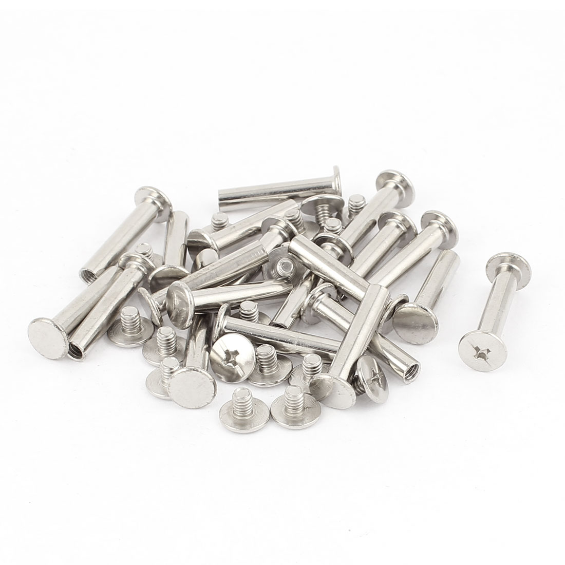 20Pcs M5x25mm Nickel Plated Binding Screw Post for Scrapbook Photo Albums