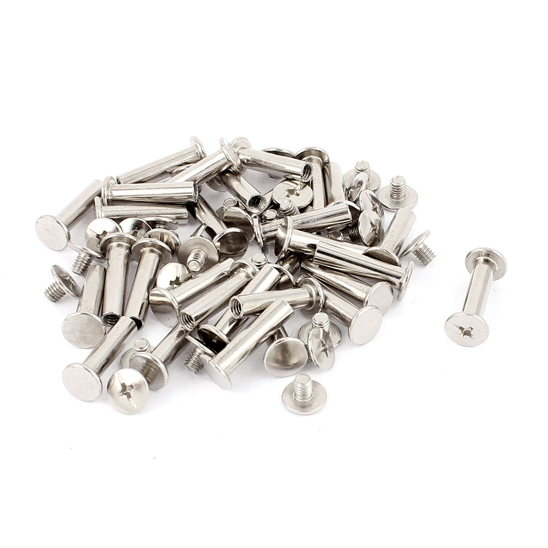 30Pcs M5x20mm Nickel Plated Binding Screw Post for Scrapbook Photo Albums