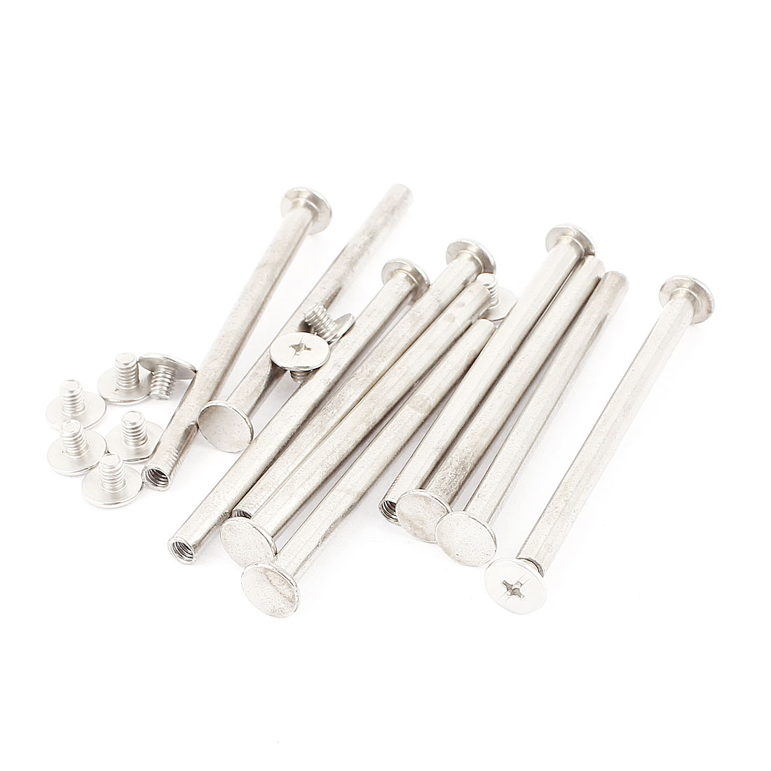 10Pcs M5x70mm Nickel Plated Binding Screw Post for Scrapbook Photo Albums