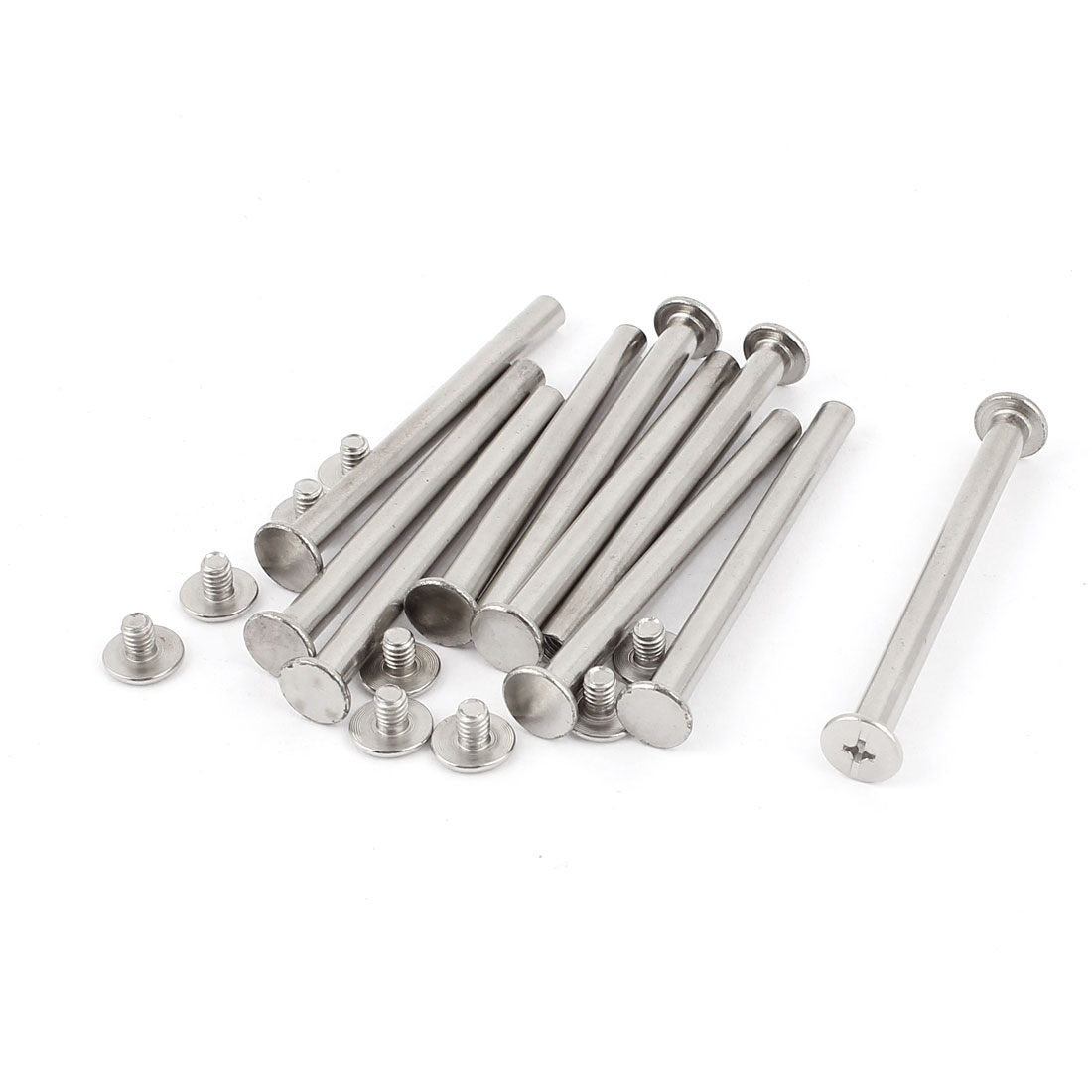 10Pcs M5x60mm Nickel Plated Binding Screw Post for Scrapbook Photo Albums