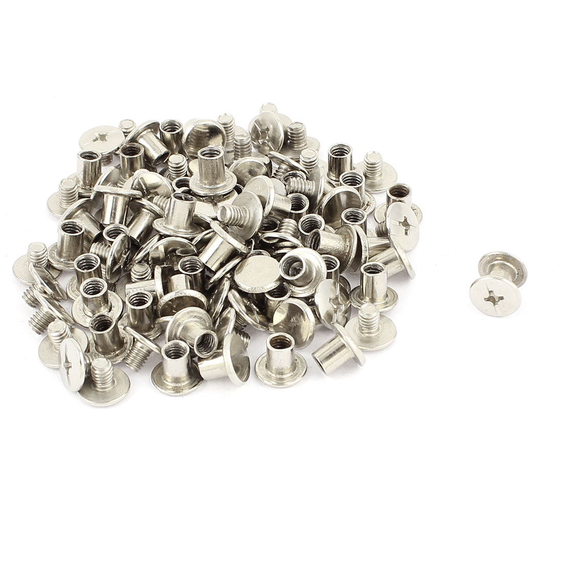50Pcs M5x6mm Nickel Plated Binding Screw Post for Scrapbook Photo Albums