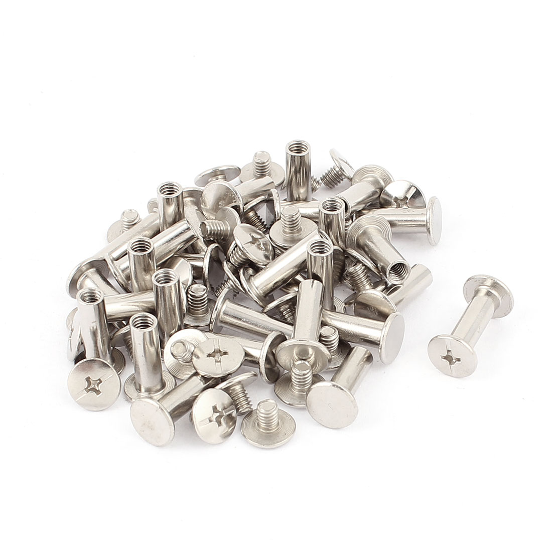 30Pcs M5x15mm Nickel Plated Binding Screw Post for Scrapbook Photo Albums