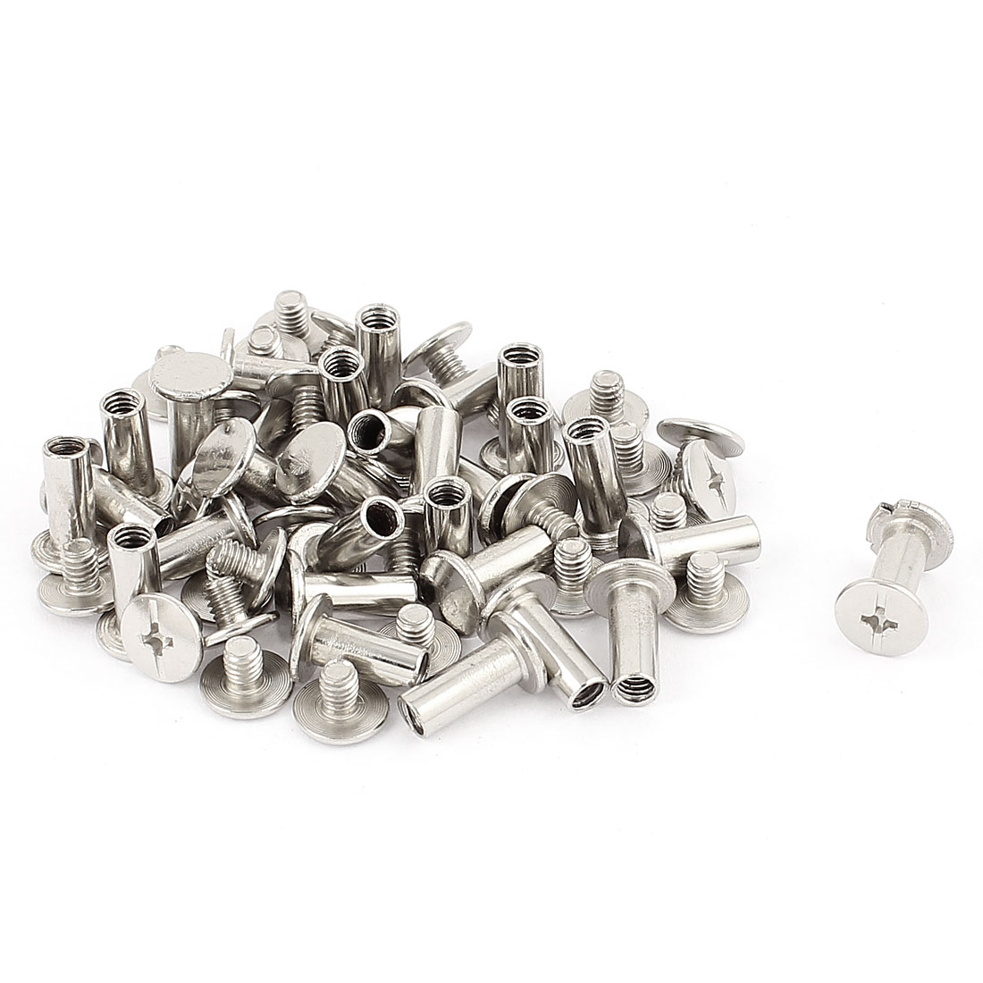 30Pcs 5mm Nickel Plated Binding Screw Post for Scrapbook Photo Albums