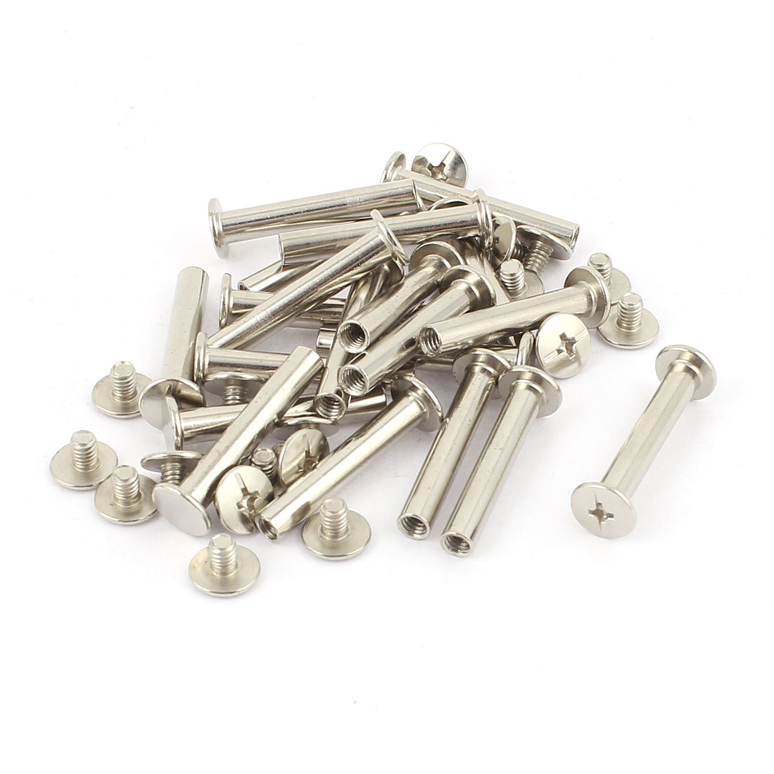 20Pcs M5x30mm Nickel Plated Binding Screw Post for Scrapbook Photo Albums