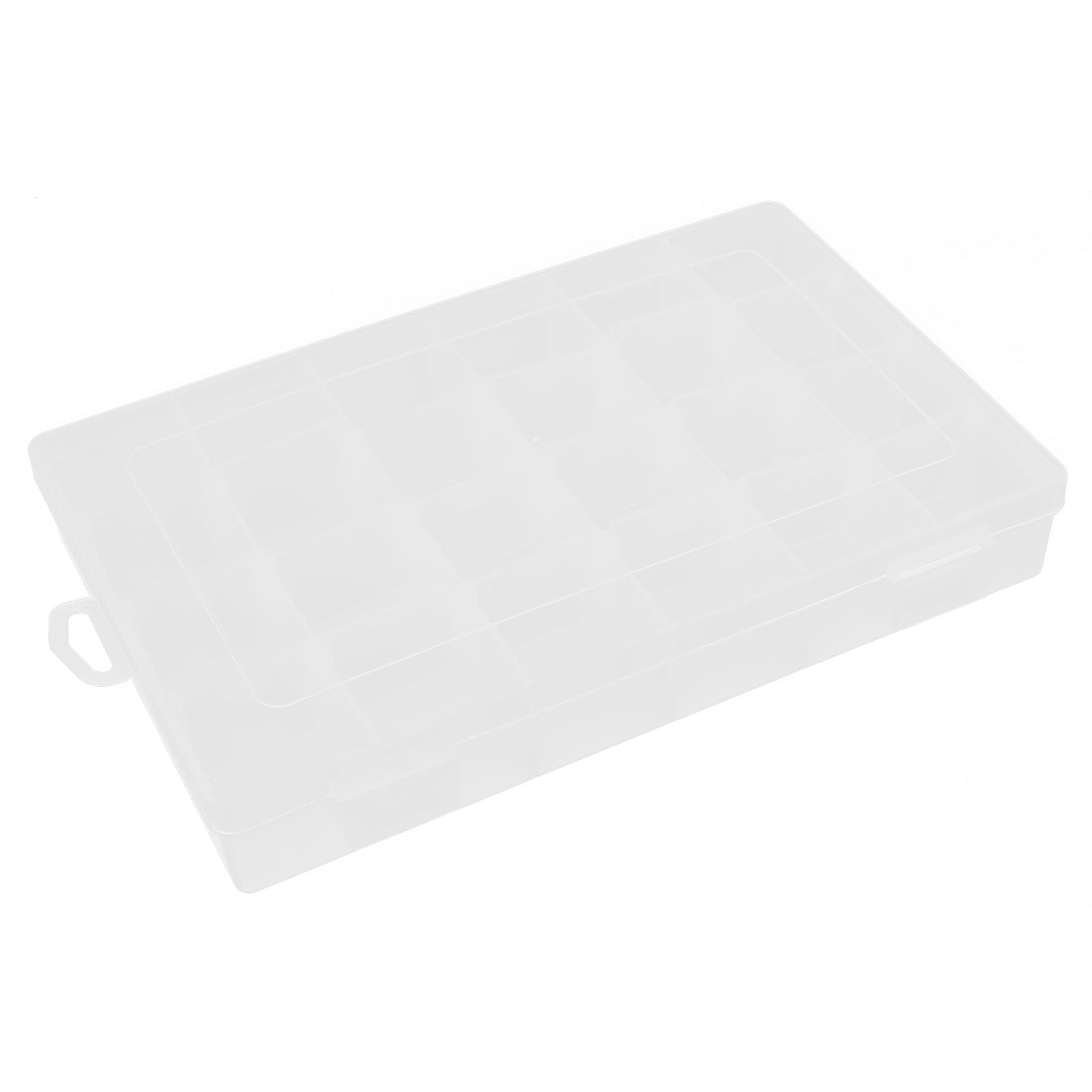 Clear Plastic 24 Slot Fishing Lure Bait Storage Tackle Box Case Container