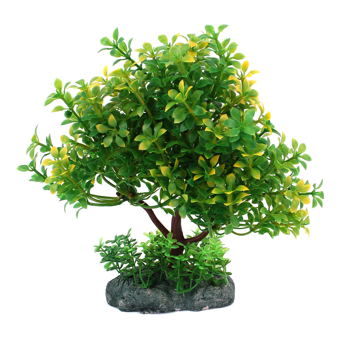 Aquarium Manmade Underwater Tree Plant Grass Ornament Green 18cm High