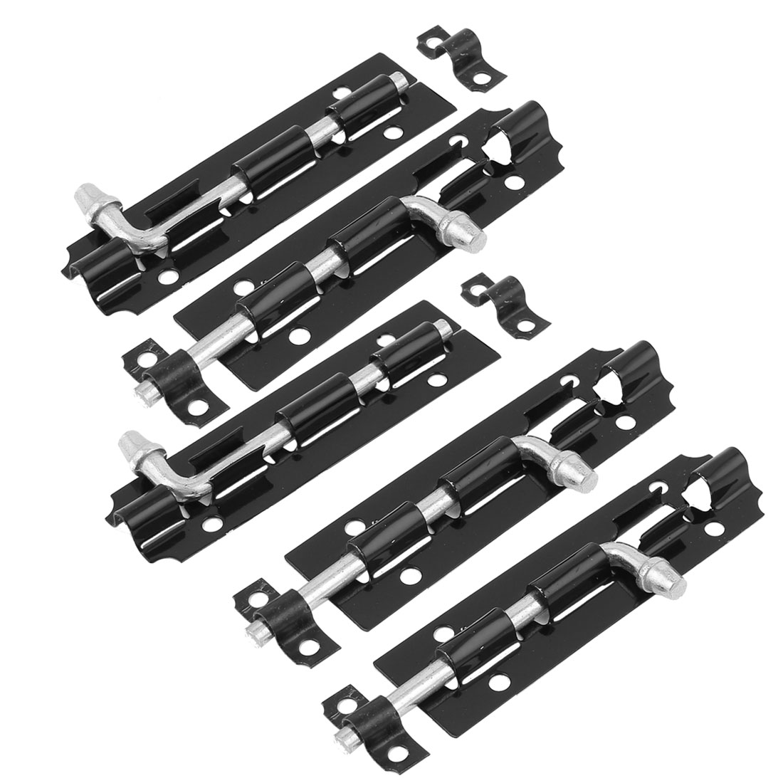 Cabinet Cupboard Door Gate Latch Slide Lock Barrel Bolt Black 5 Pcs