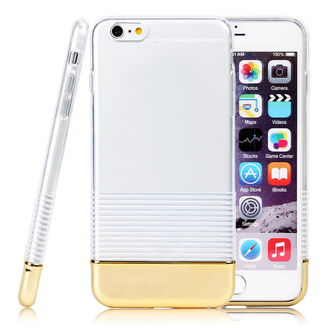 For Apple iPhone 6 Plus TPU Rubber Gel Ultra Thin Case Cover Transparent Clear