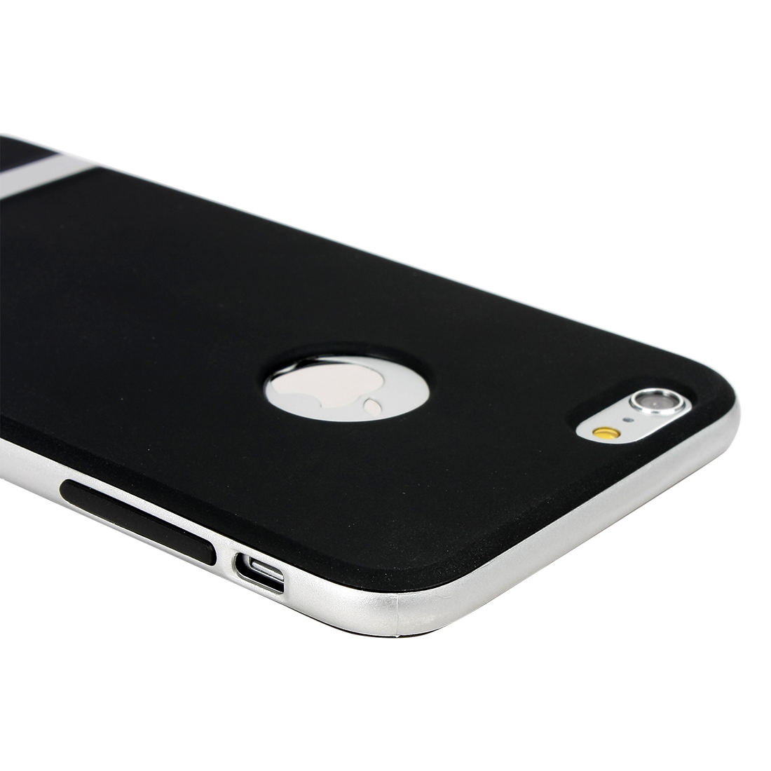 Silver Hybrid Shockproof Hard Bumper Soft Case Cover For iPhone 6