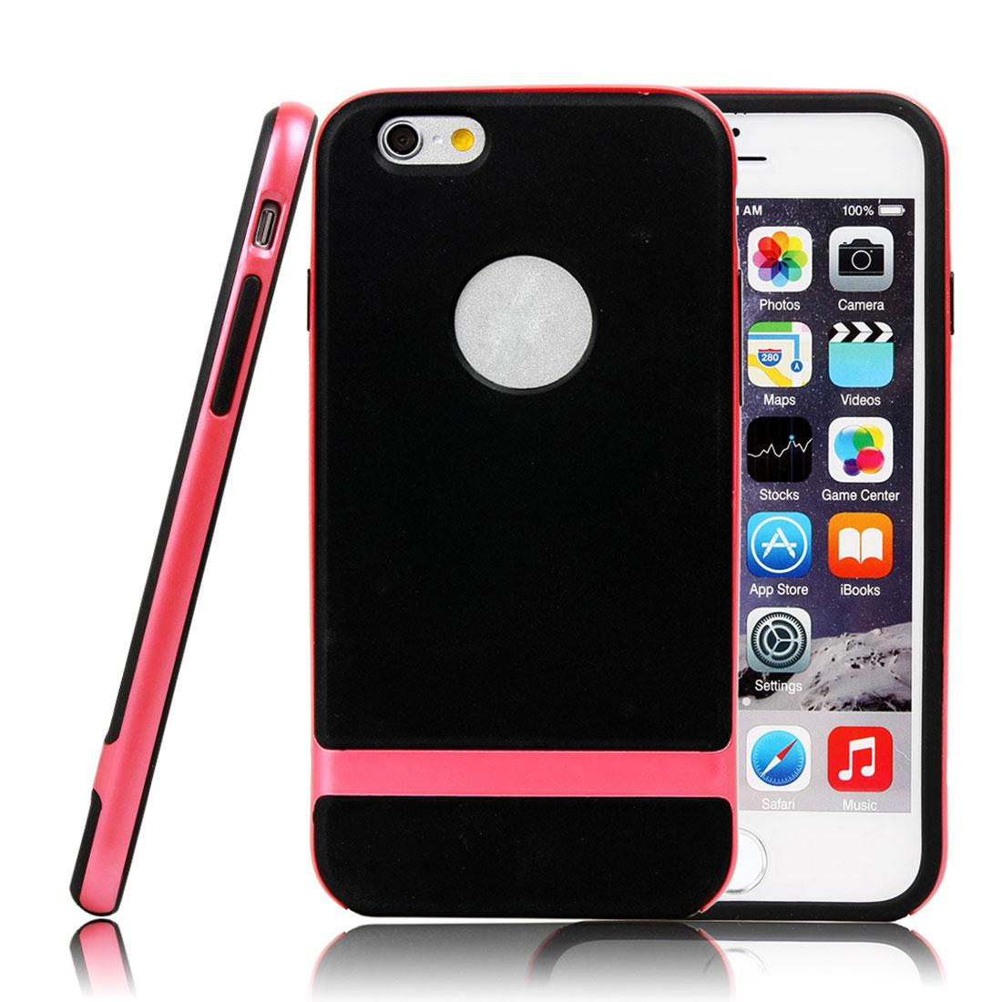 For iPhone 6 Plus Hybrid Shockproof Hard Bumper Soft Case Cover Pink