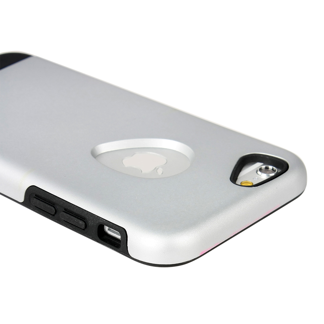 for iphone 6 Case Combo Hybrid Shockproof Hard Cover Silver Tone