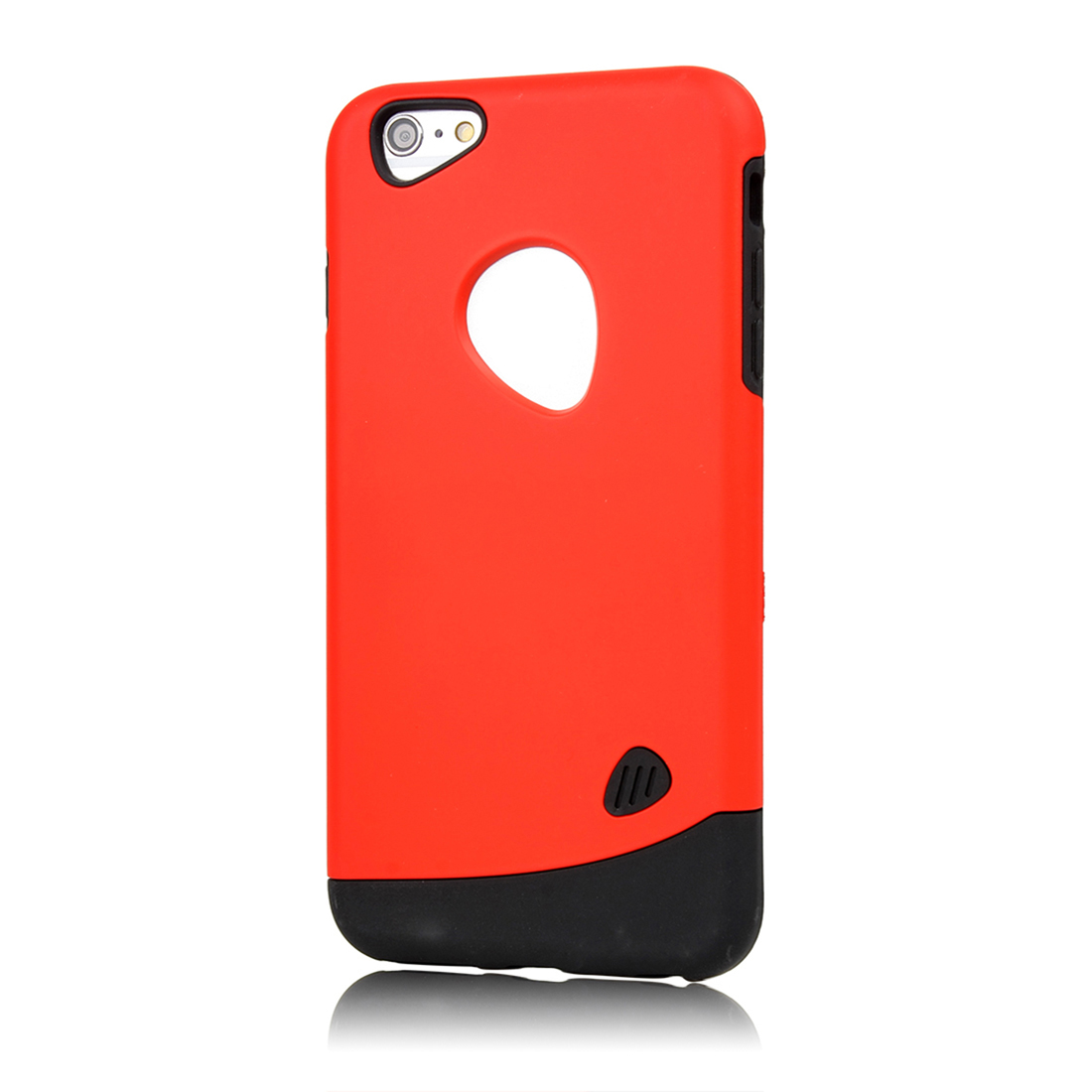 Combo Hybrid Shockproof Hard Cover Red for Iphone 6 Plus Case