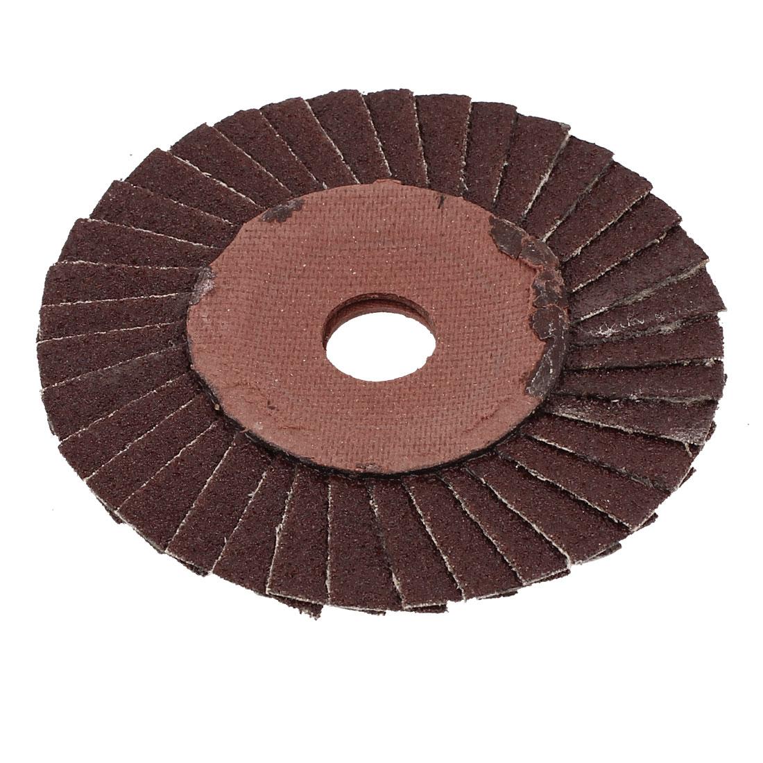100mmx16mmx3mm 36 Grit Abrasive Flap Sanding Grinding Disc Polishing Wheel