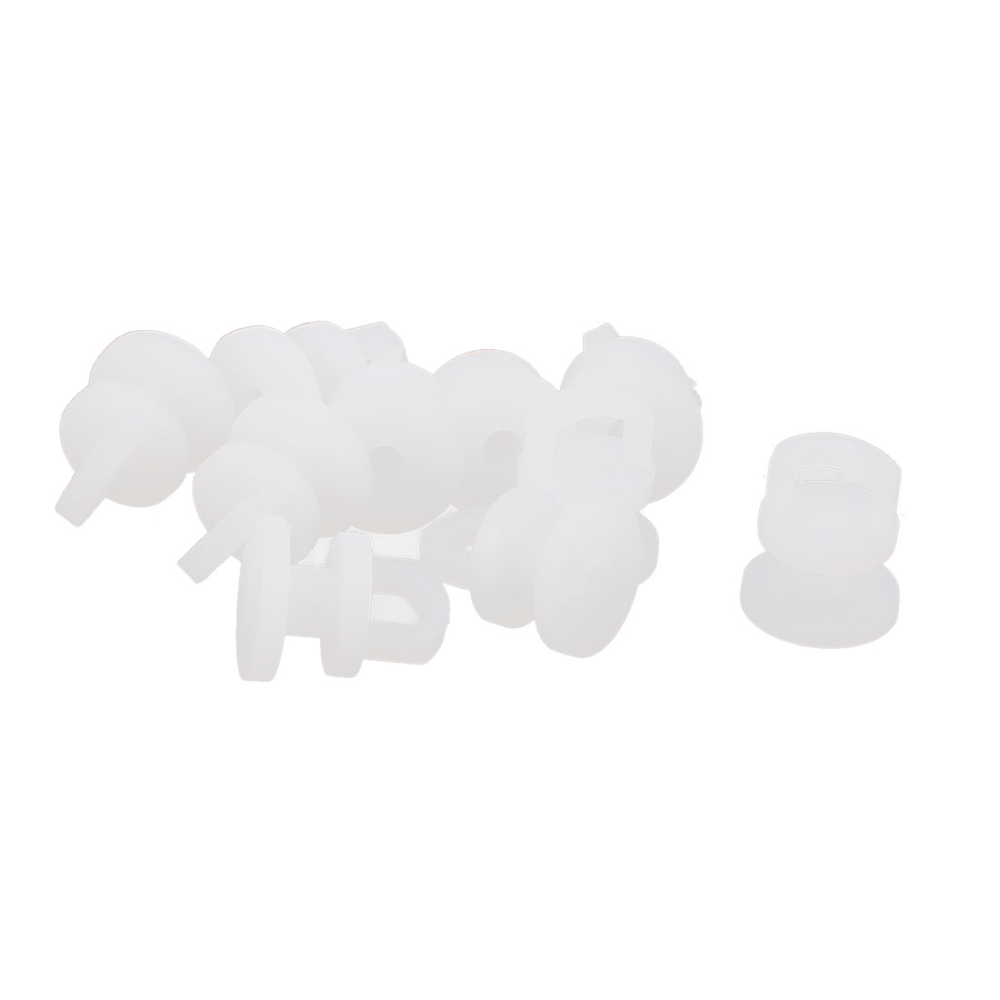 10pcs Plastic Curtain Glider Track Rail Carrier Slide Wheels Rollers White