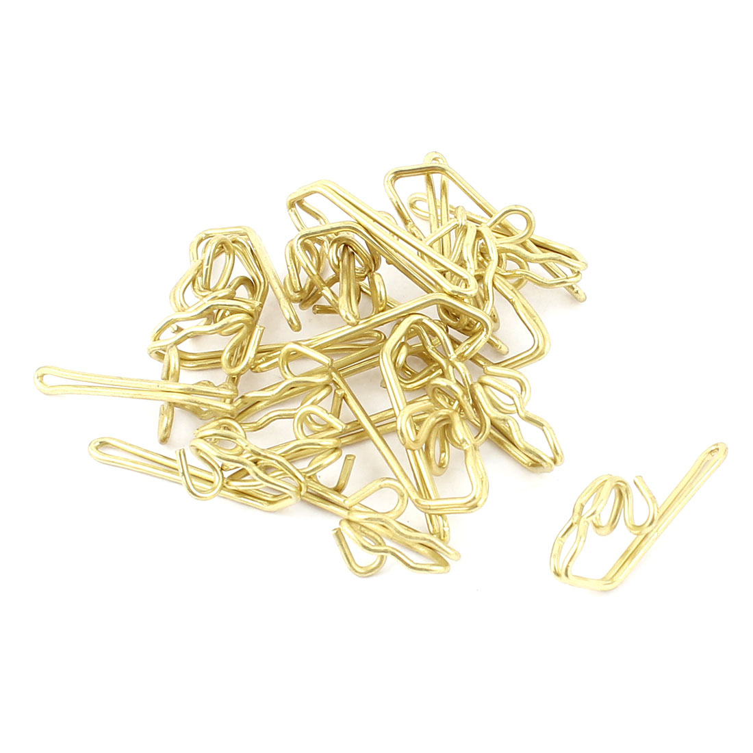 Gold Tone Metal Window Curtain Gather Pin Pinch Pleat Hooks Pleater 20pcs
