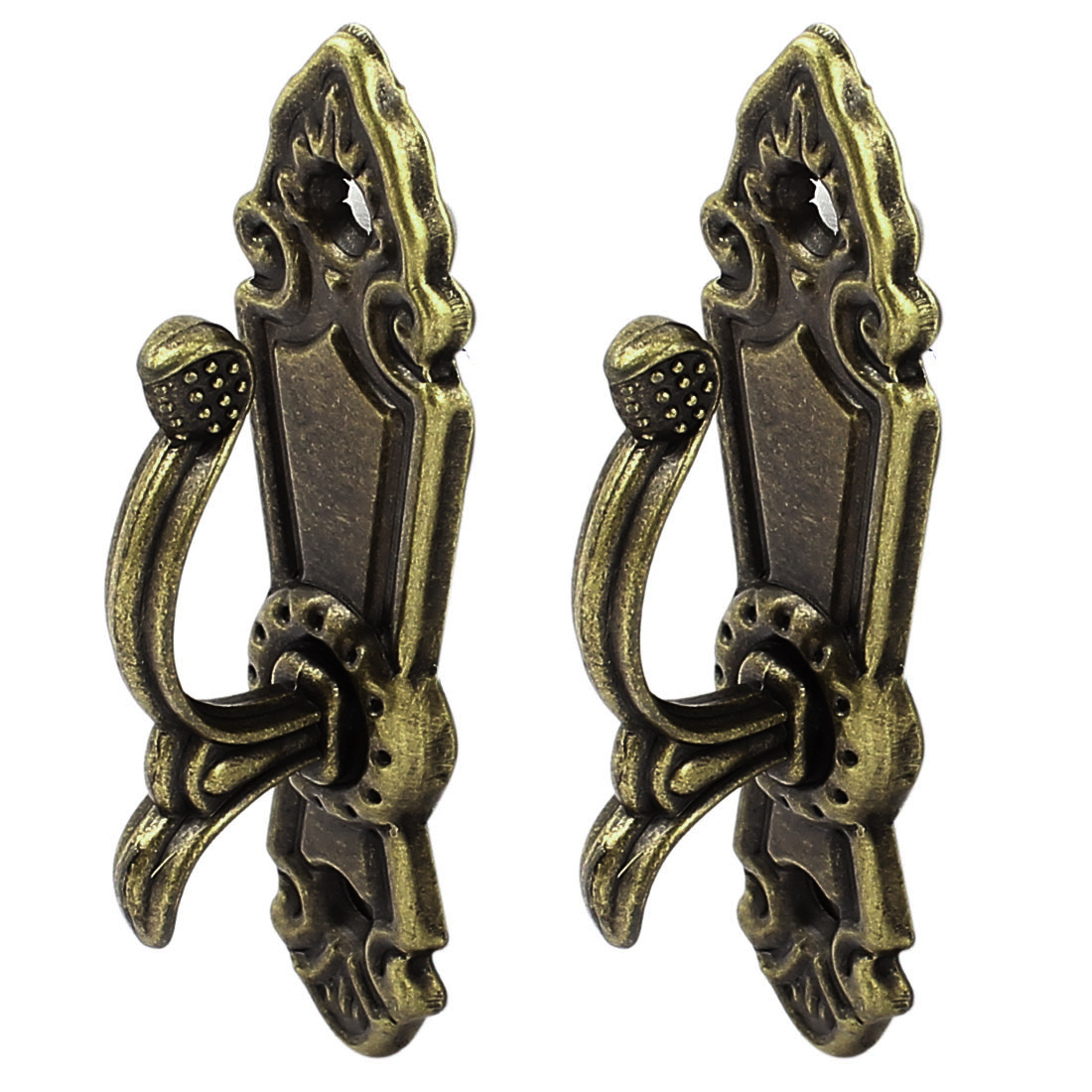 Screw Mount Curtain Tassel Tie Back Tieback Mini Wall Hooks Bronze Tone 2PCS