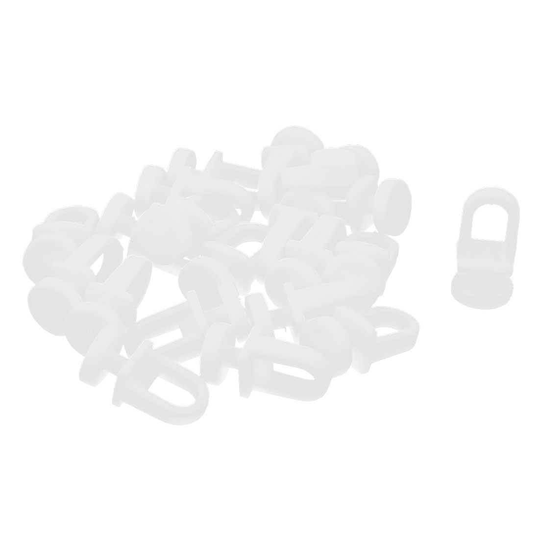 20pcs Plastic Window Curtain Track Carrier Slide Wheels Rollers White
