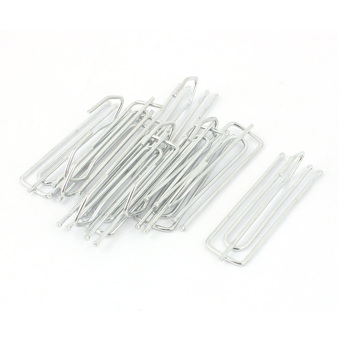 Silver Tone Metal Deep Pinch Prong Window Curtain Pleat Hooks Pleater 10pcs