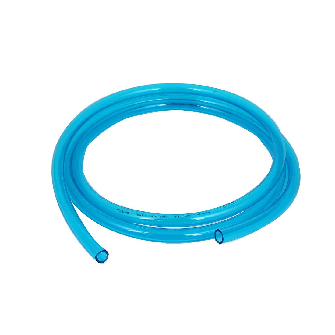 PU Polyurethane Air Tubing Pneumatic Pipe Tube Hose Clear Blue 10x6.5mm 2M
