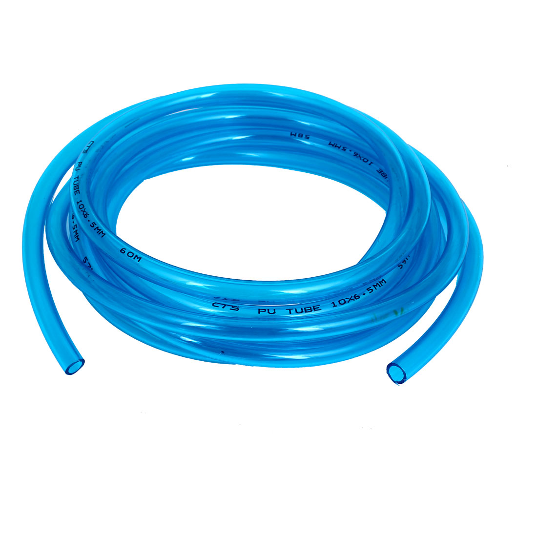 PU Polyurethane Air Tubing Pneumatic Pipe Tube Hose Clear Blue 10x6.5mm 5M