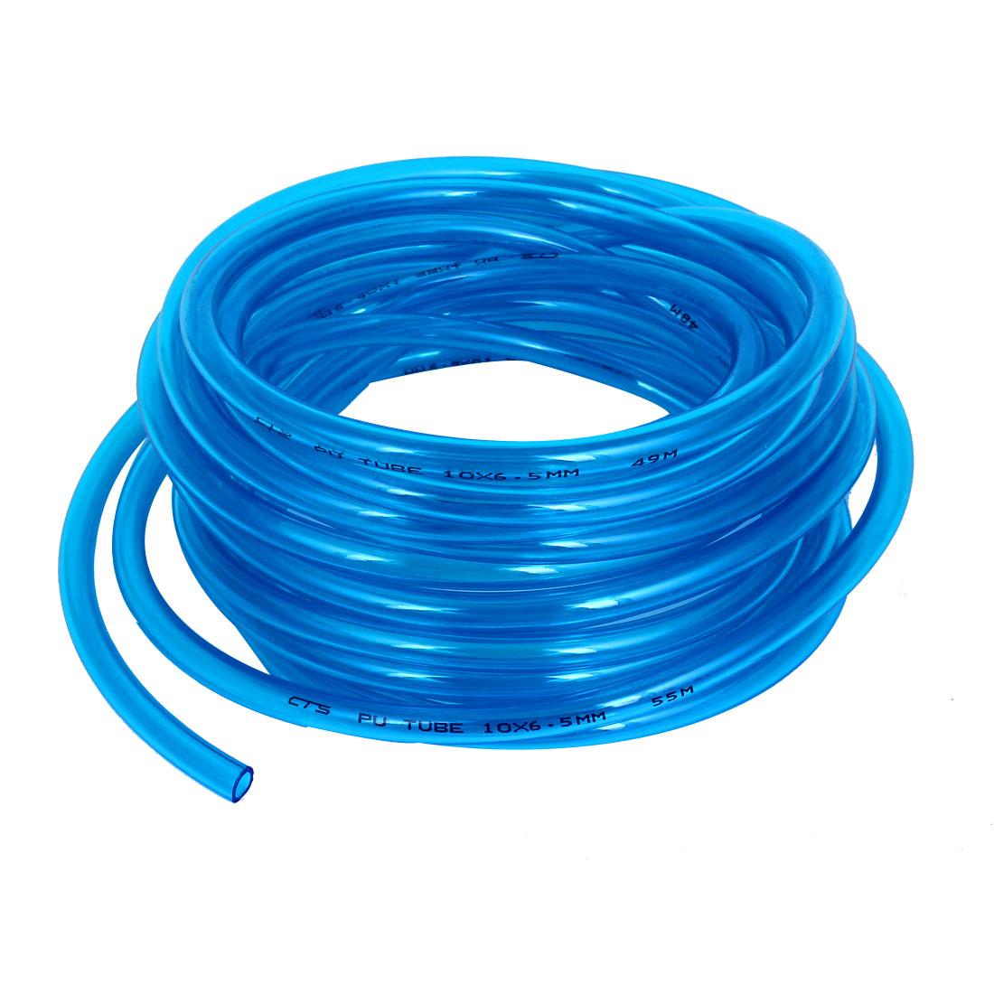 PU Polyurethane Air Tubing Pneumatic Pipe Tube Hose Clear Blue 10x6.5mm 10M