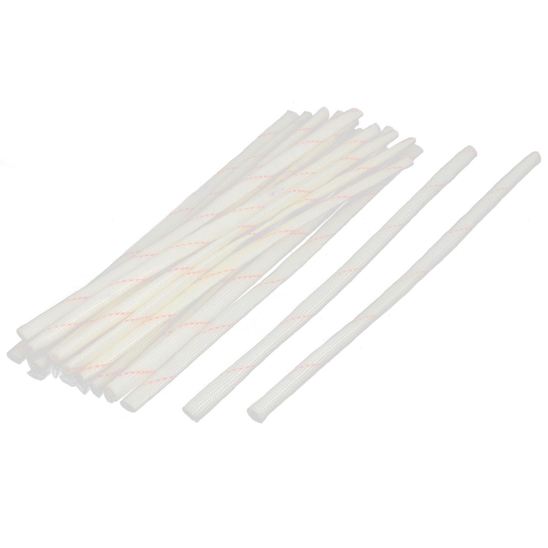 20 Pcs 20cm 5mm Diameter PVC Fiberglass Insulating Sleeving Tube Sleeve