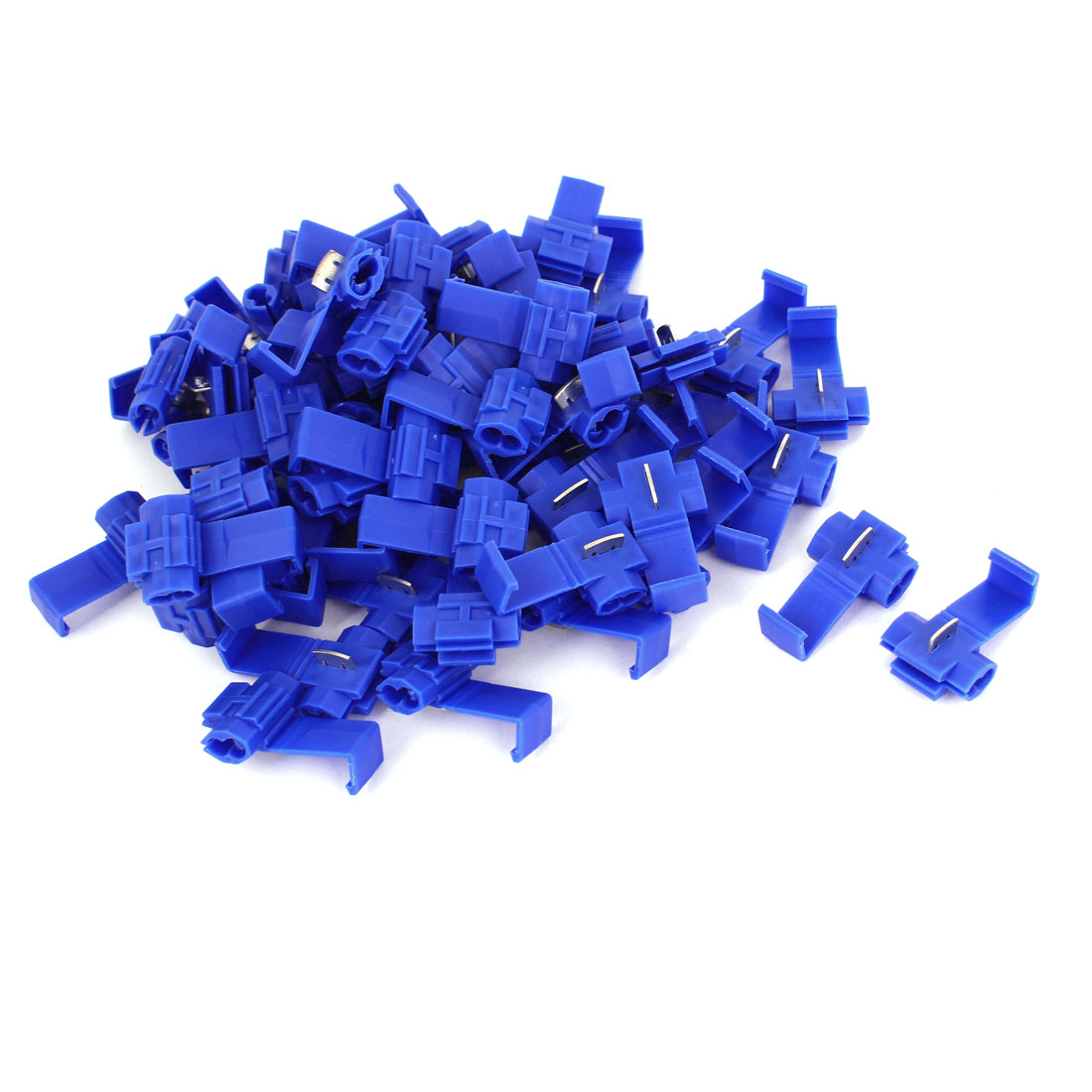 Car Clip Solderless Wire Quick Splice Connector 60pcs Blue for 2.5mm2 Cable