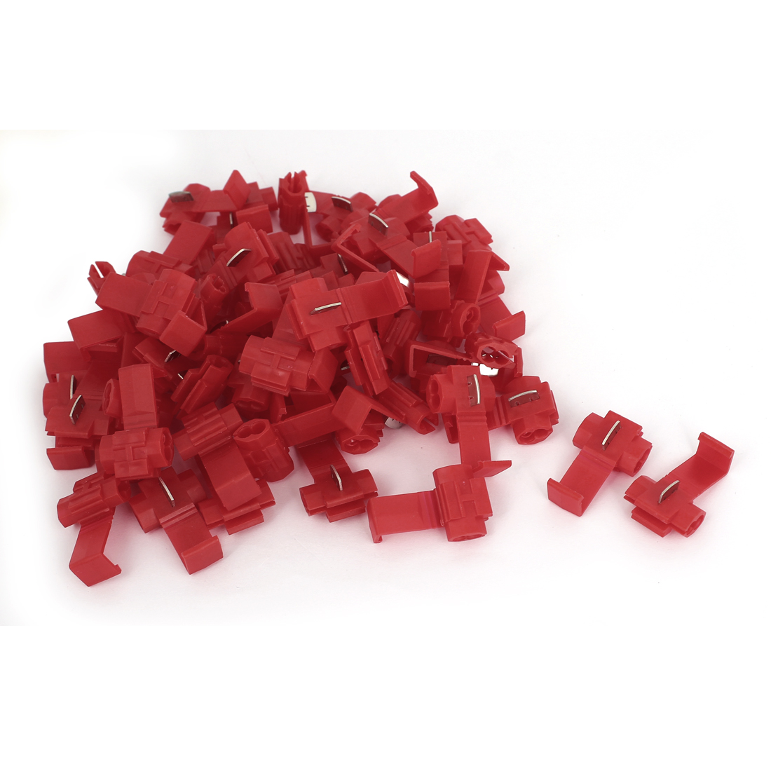 Car Clip Wire Quick Splice Terminals Crimp Connector 60pcs Red for 2.5mm2 Cable