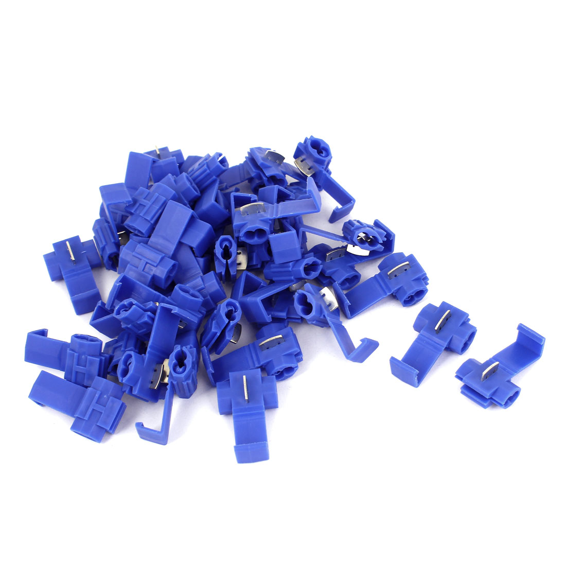 Car Clip Solderless Wire Quick Splice Connector 40pcs Blue for 2.5mm2 Cable