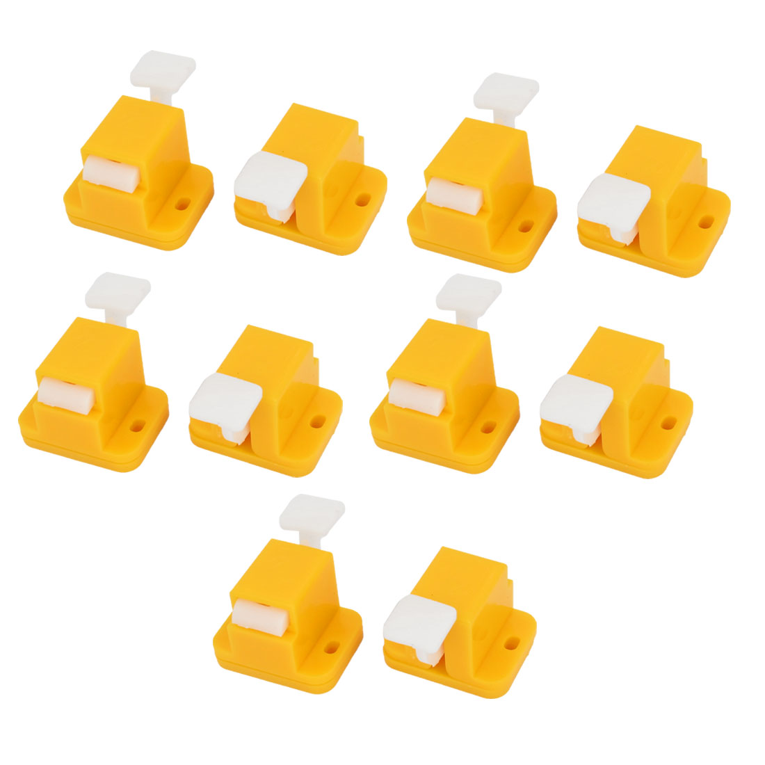 10 Pcs Plastic Prototype Test Fixture Jig Yellow for PCB Board DIY