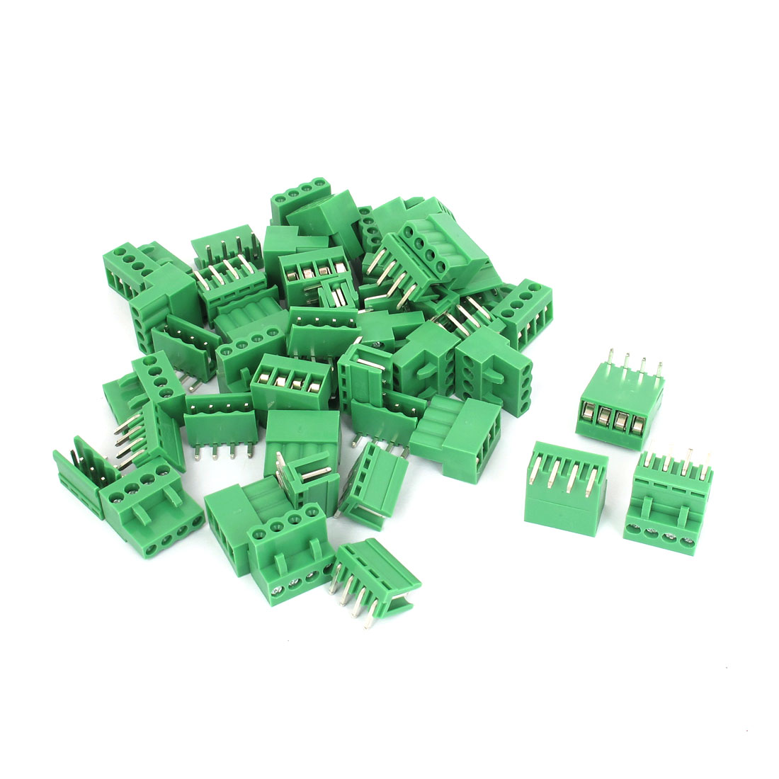 26 Sets 5.08mm Pitch Right Angle 4pin PCB Pluggable Terminal Block Connectors