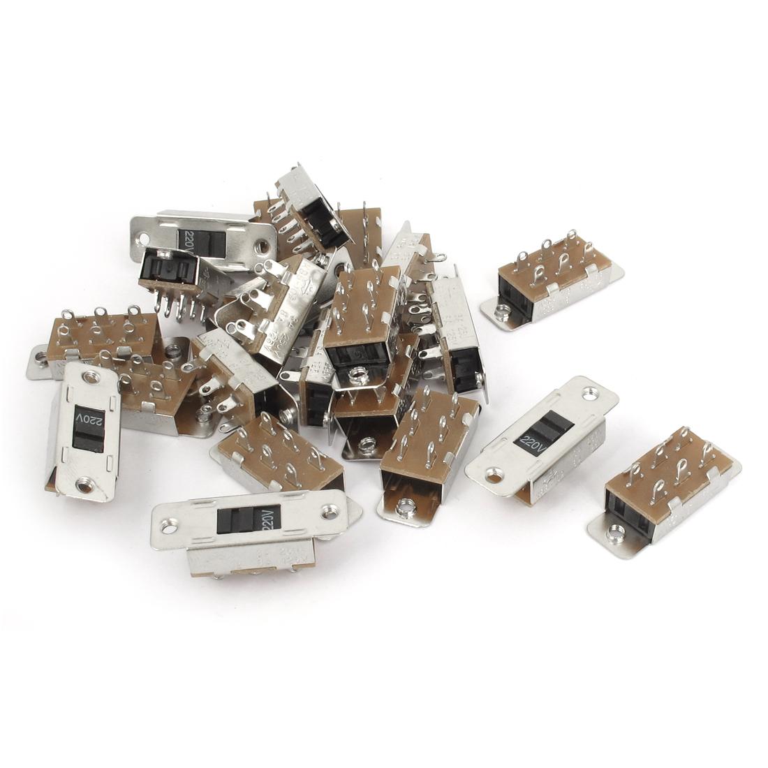AC 110V/220V Panel Mount Solder Lug Pin DPDT Voltage Selector Slide Switch 30PCS