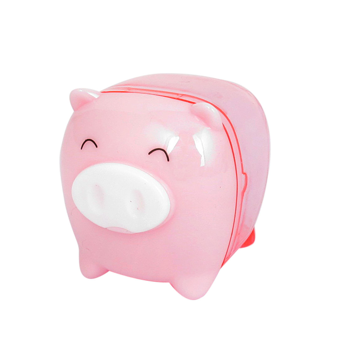 Pink Pig Design Plastic Housing Pencil Sharpener Tool for Students