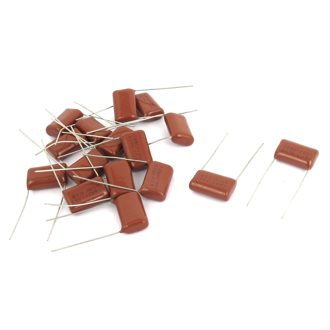 16pcs 104J 630V 0.1uF Electronic Components Metallized Polyester Film Capacitors
