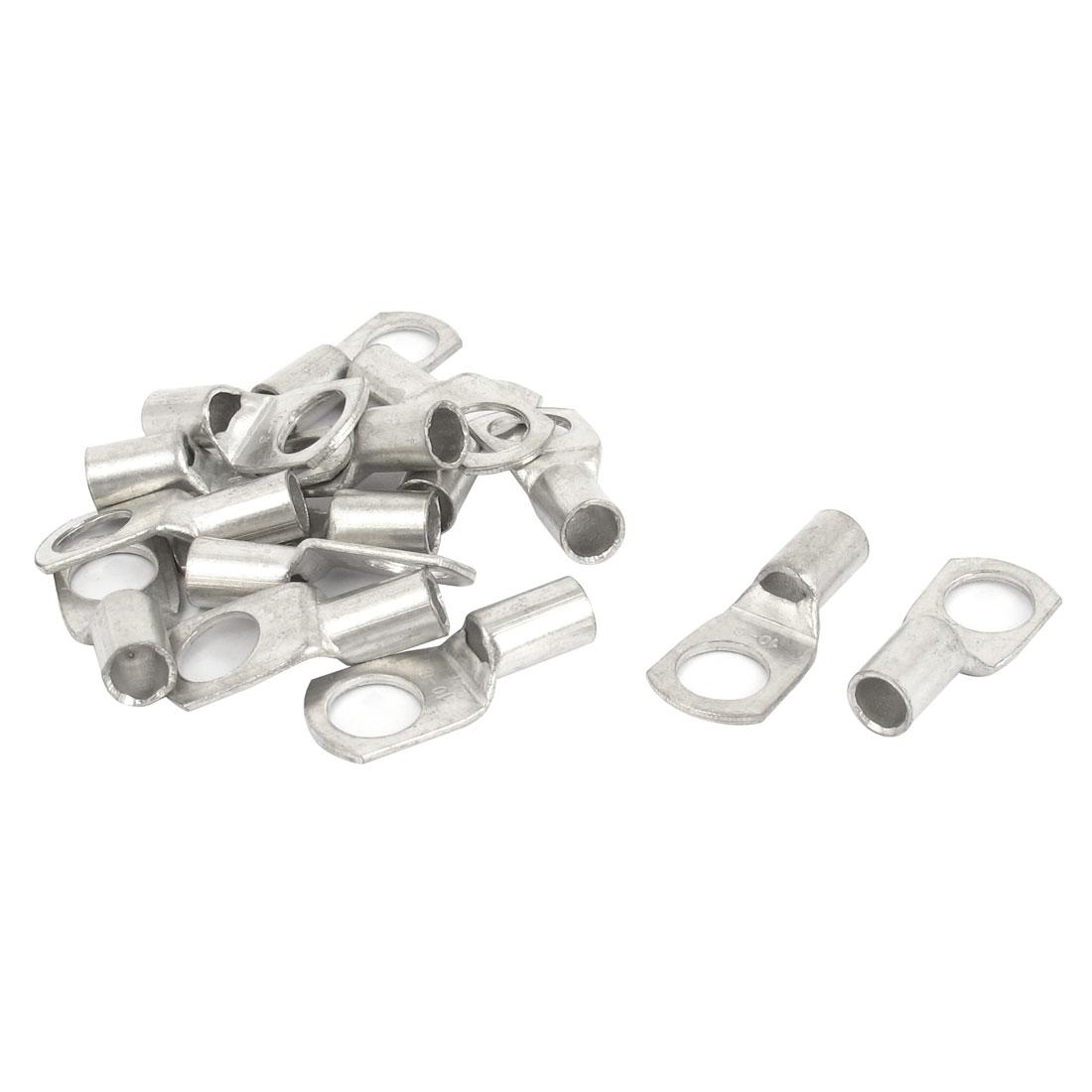 15 Pcs Silver Tone 10-8 8mm Bolt 10mm2 Copper Cable Lug Terminal