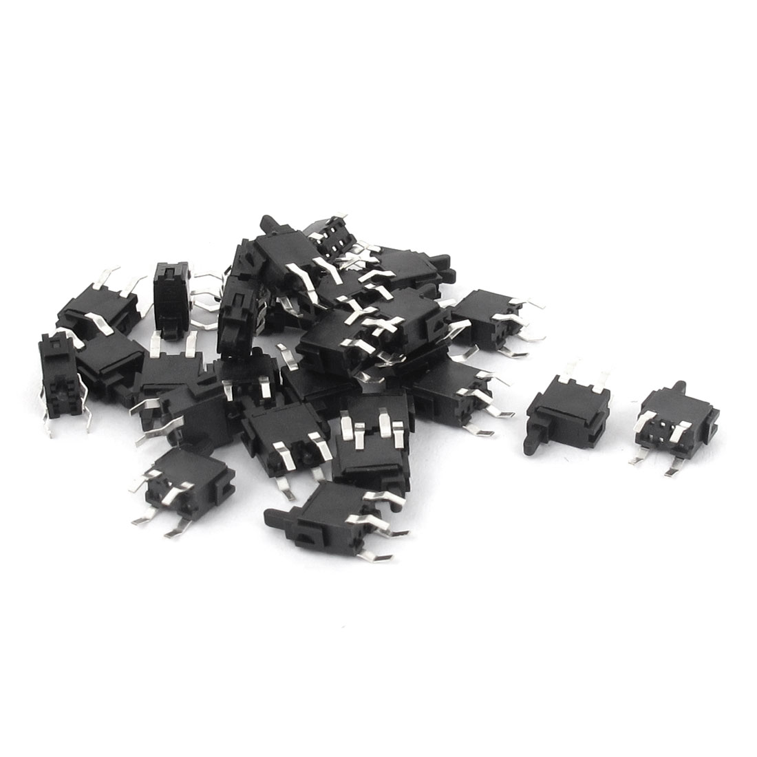 30 Pcs 4 Pins PCB Mount Momentary Tactile Push Button Micro Switch 6x3x10mm