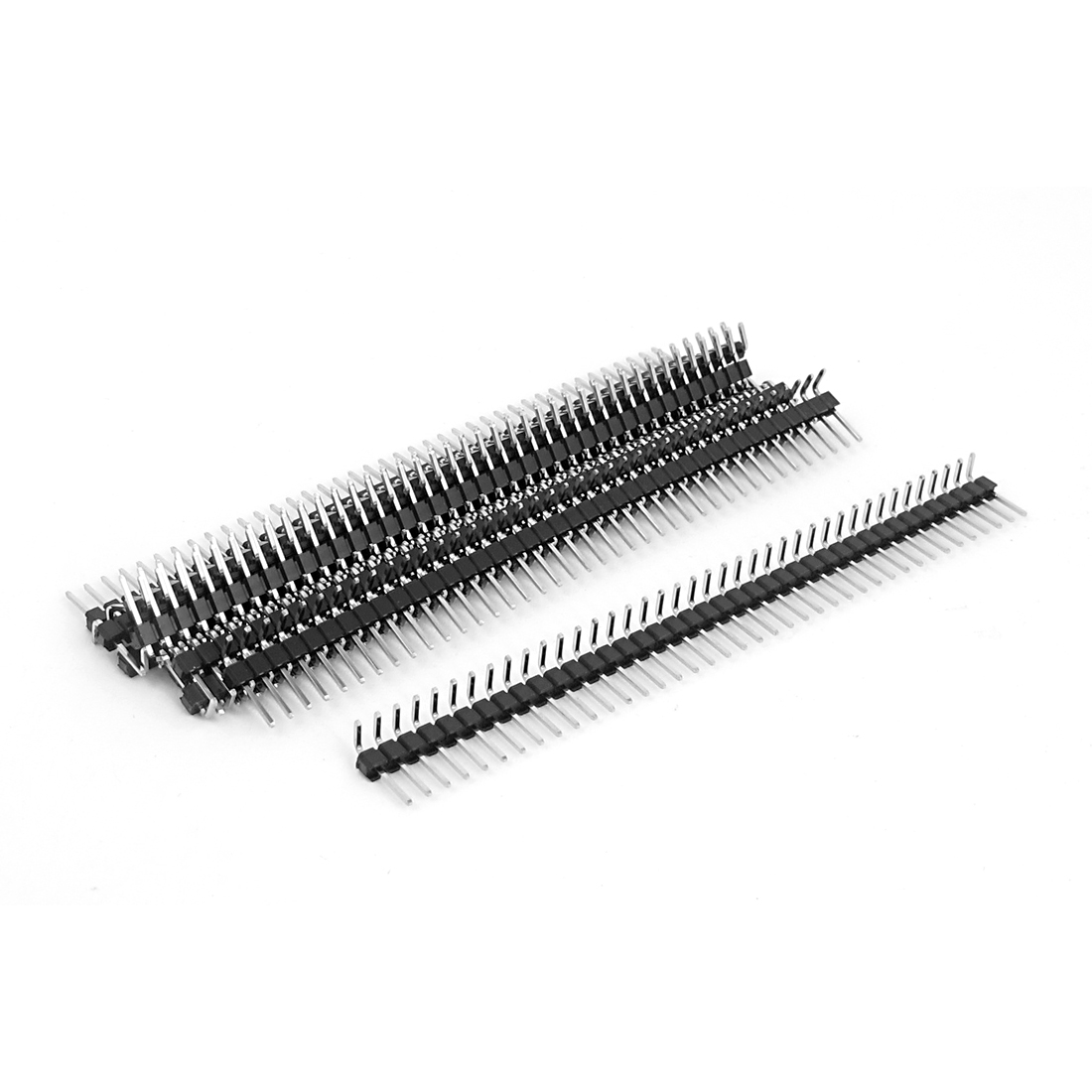 10pcs Right Angle 40-pin 2.54mm Male Header for Breadboard 1x40 Single Row