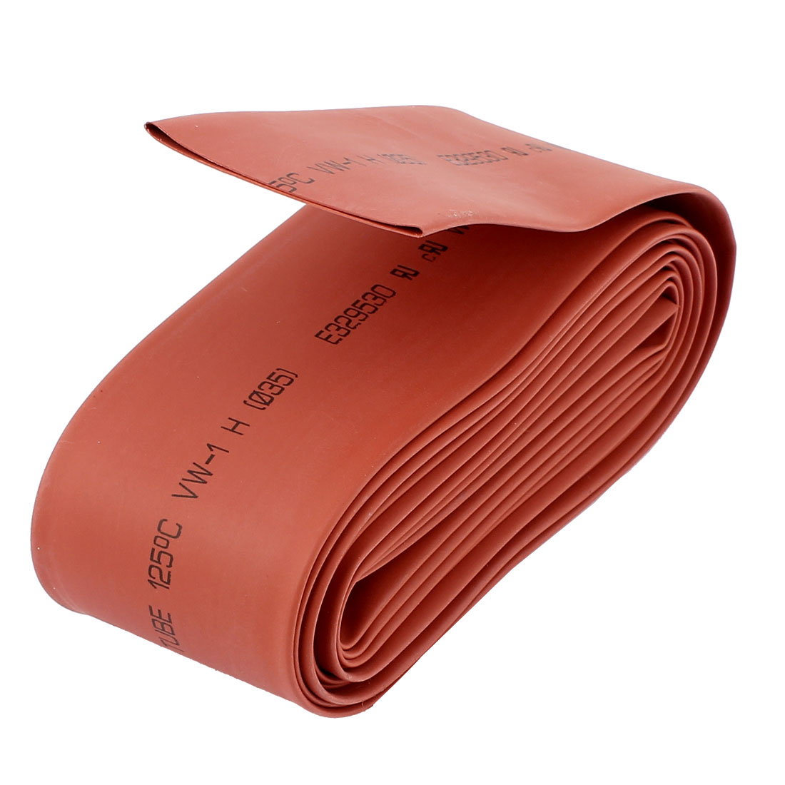 10Ft Length 35mm Dia 2:1 Polyolefin Heat Shrink Tubing Wrap Wire Sleeving Red