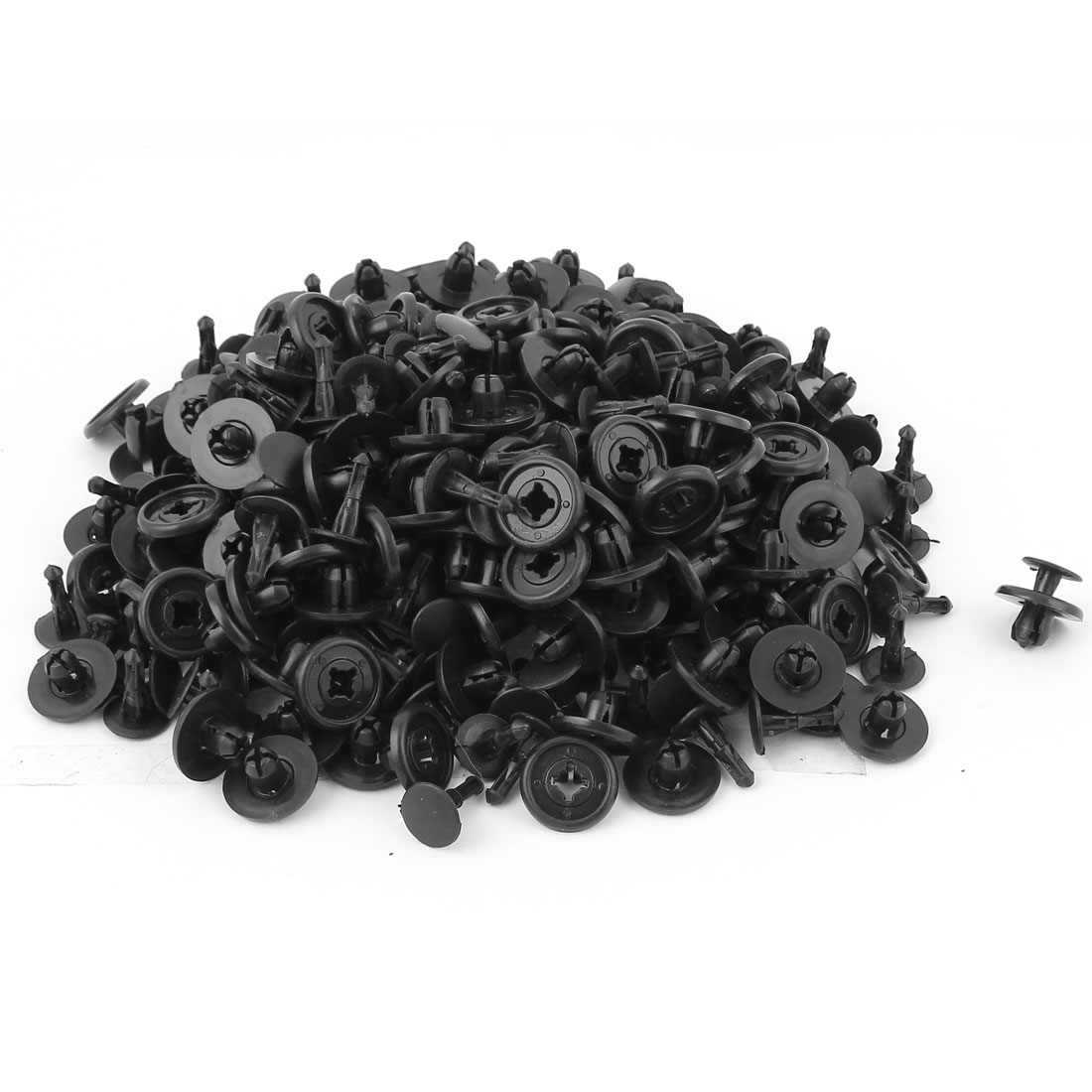 200 Pcs Black Plastic Rivet Trim Fastener Moulding Clips 7mm x 20mm x 12mm