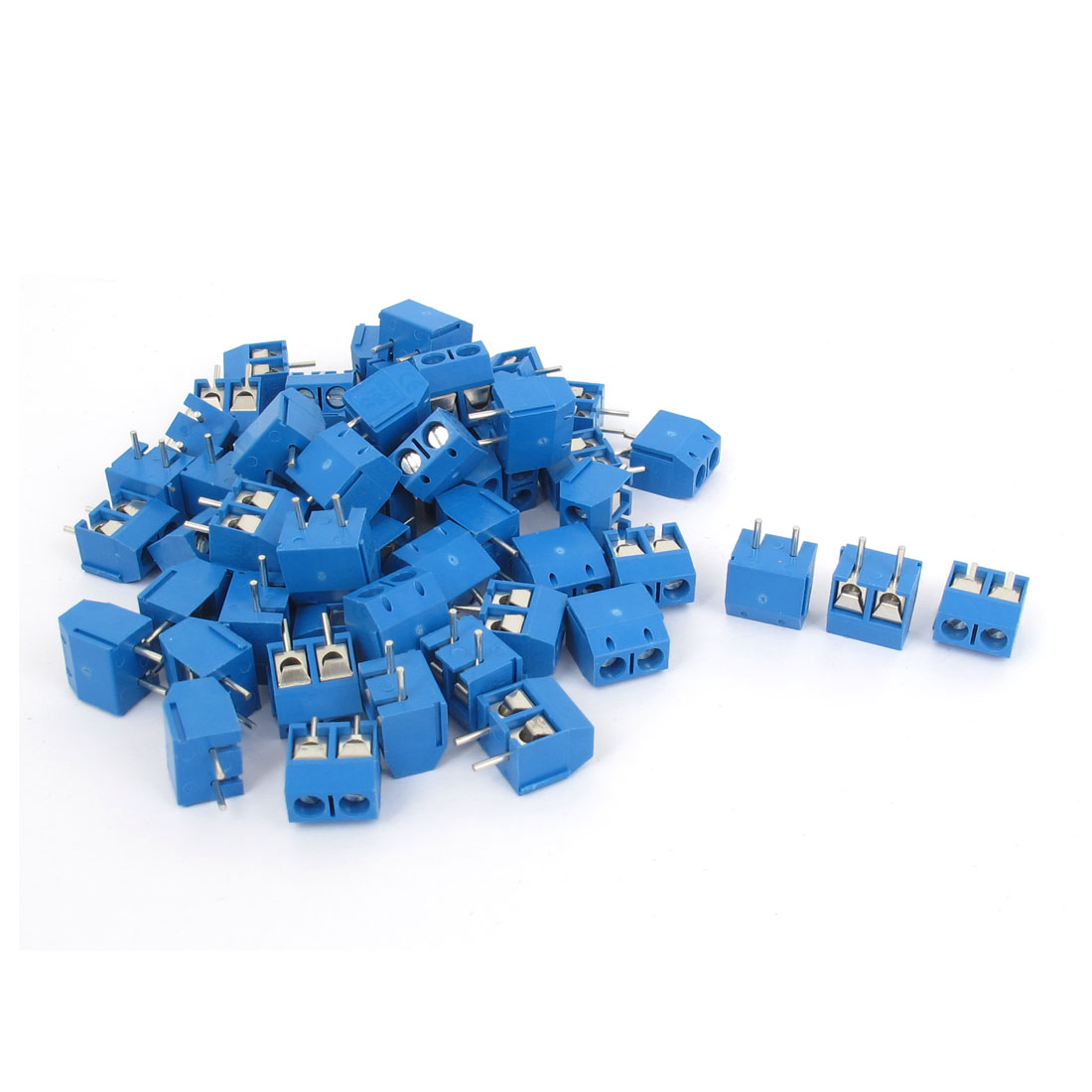 AC 300V 10A 5mm Plug-in Screw Terminal Block Connector PCB Mount 80PCS