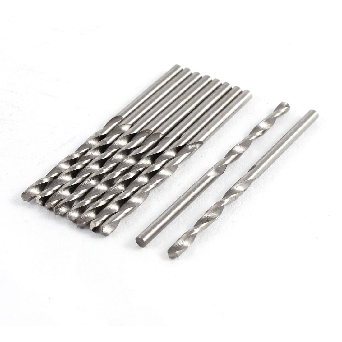 10 Pcs 3mm Diameter HSS Straight Shank Twist Drilling Bit for Electric Drills